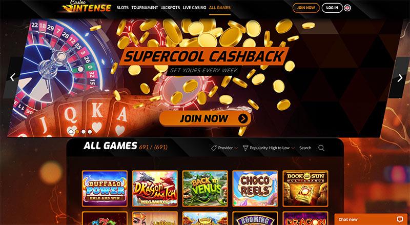 casino intense accueil