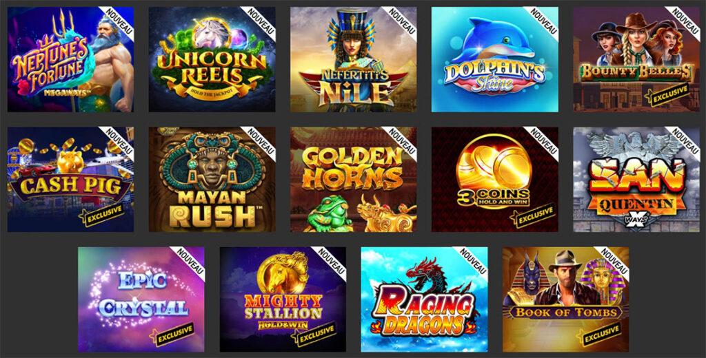nouveaux jeux de casino spin million