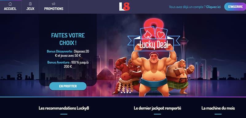 casino Lucky8 accueil